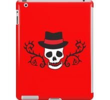 Skull with thorns and a bowler hat iPad Case/Skin