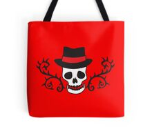 Skull with thorns and a bowler hat Tote Bag