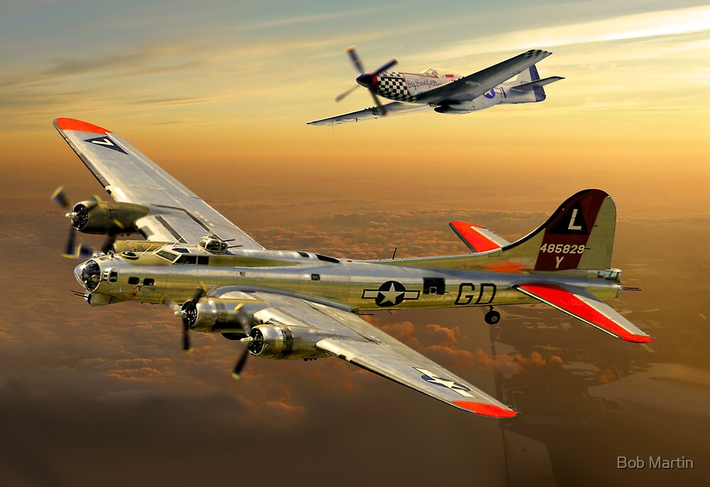 Flying Fortress B17 by Bob Martin