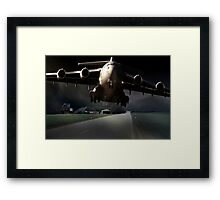 Impossible landing... Framed Print