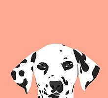Casey - Dalmation art print phone case decor for pet lover and dog lover by PetFriendly