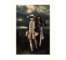 Norrington and Sparrow Art Print