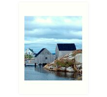 Boathouses Art Print