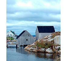 Boathouses Photographic Print