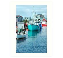 Boating Village Art Print