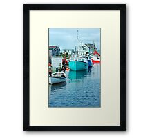 Boating Village Framed Print