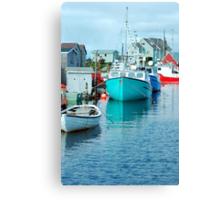 Boating Village Canvas Print