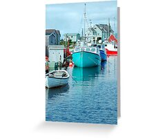 Boating Village Greeting Card