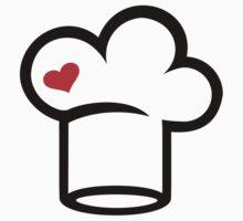 Chef cook hat heart Kids Tee