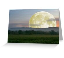 Last nights moon Greeting Card