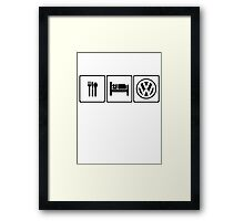 Eat Sleep VW Framed Print
