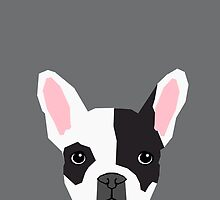 Parker - French Bulldog animal art modern colors for dog people by PetFriendly