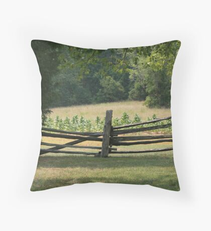Tobacco Field Throw Pillow