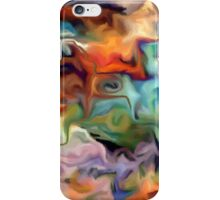 abstract, geometric, expressionist, color, colorful iPhone Case/Skin