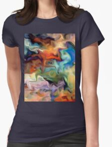 abstract, geometric, expressionist, color, colorful Womens Fitted T-Shirt