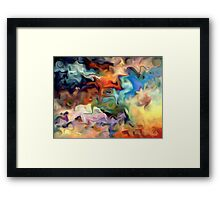 abstract, geometric, expressionist, color, colorful Framed Print