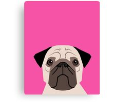 Taylor - Pug dog art phone case for pet lovers and dog people Canvas Print