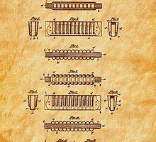Hohner Harmonica 1900 Patent Art by Barry  Jones