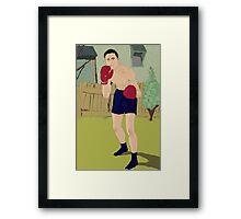 Thistle Street Boxer Framed Print