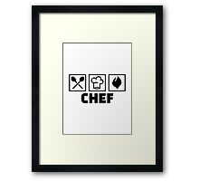 Chef cook hat equipment Framed Print
