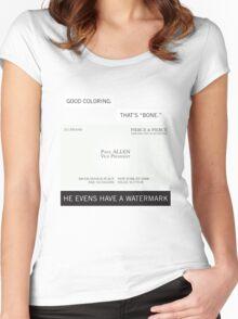 It's bone. Women's Fitted Scoop T-Shirt