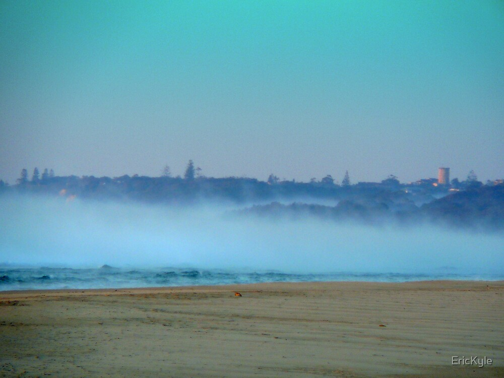 HEAVY FOG OVER THE OCEAN AFTER SUNRISE by EricKyle