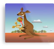 Mothers Day for Kangaroos Metal Print