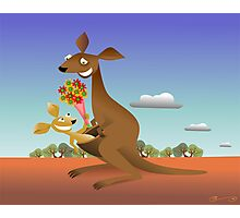 Mothers Day for Kangaroos Photographic Print