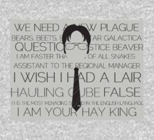 Dwight Schrute quotes Kids Clothes