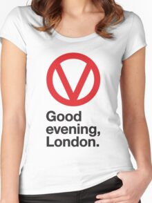 Good evening, London Women's Fitted Scoop T-Shirt