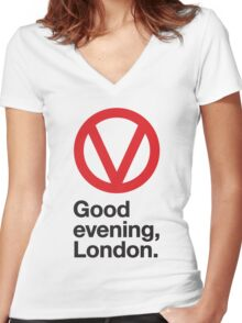 Good evening, London Women's Fitted V-Neck T-Shirt