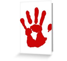 COD Bloody Hand Greeting Card