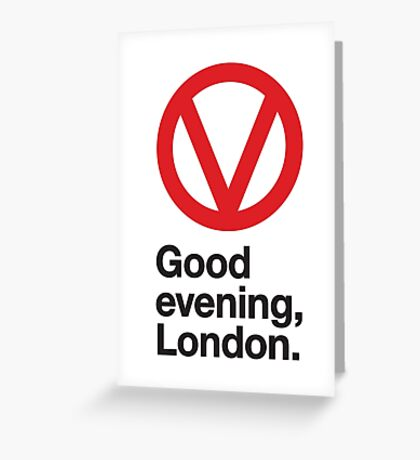 Good evening, London Greeting Card
