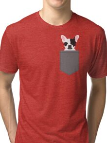 Parker - French Bulldog animal art modern colors for dog people Tri-blend T-Shirt