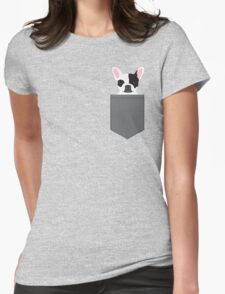Parker - French Bulldog animal art modern colors for dog people Womens Fitted T-Shirt