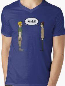 Nice Hat Mens V-Neck T-Shirt