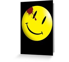 Watchmen Smiley Face Greeting Card