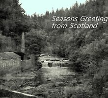 Christmas greetings card , Falls of Clyde  by Bill Lighterness