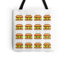 Pixel Cheeseburger Pattern Tote Bag