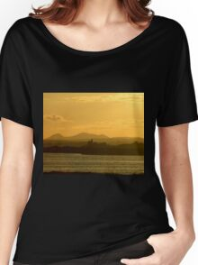 Twilight over Derryveagh mountains - with O'Doherty Castle from Inch Level Women's Relaxed Fit T-Shirt