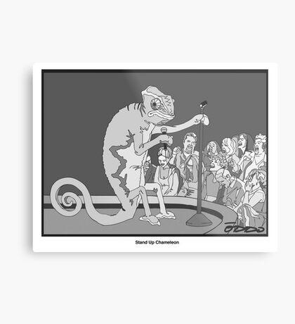 Standup Chameleon  Metal Print