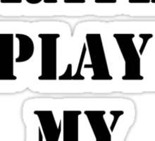 Right Now, I'd Rather Be Playing My Harmonica - Black Text Sticker