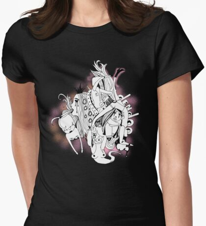 Visual Throwup (large) Womens Fitted T-Shirt