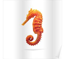 Geometric Abstract Sea Horse Poster