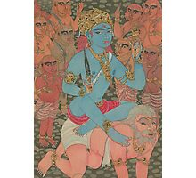 Bhairava-Shiva as the Master of Demons Photographic Print