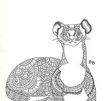 ferret doodle by bayszendoodles