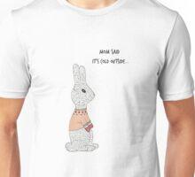 Bunny wearing a sweater. Unisex T-Shirt