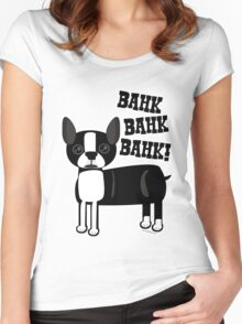 Boston Accent Terrier Women's Fitted Scoop T-Shirt