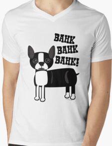 Boston Accent Terrier Mens V-Neck T-Shirt