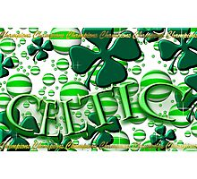 Celtic Football Champions Design Photographic Print